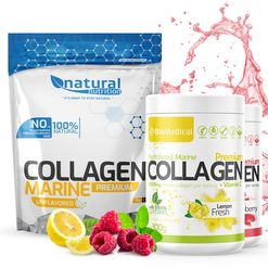 Collagen Premium - Hydrolyzovaný rybí kolagen 300g Stevia Apple Fresh