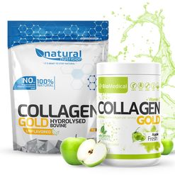 Collagen Gold - Hydrolyzovaný kolagen 300g Stevia Apple Fresh
